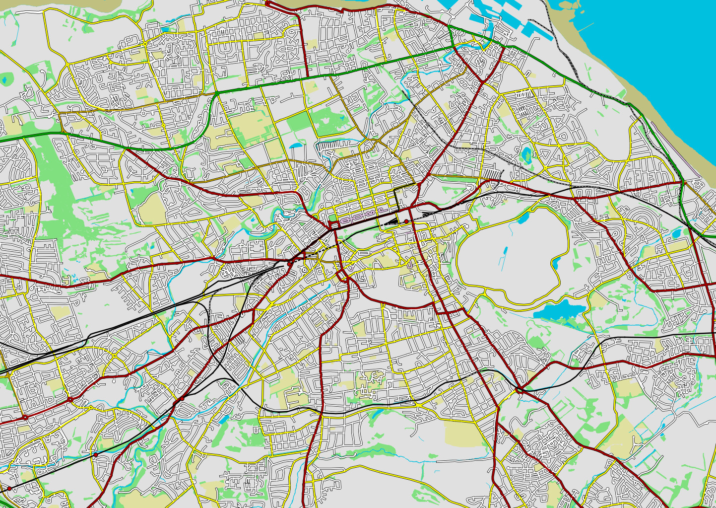Edinburgh, courtesy of Ordnance Survey's OpenData, and my map editor.