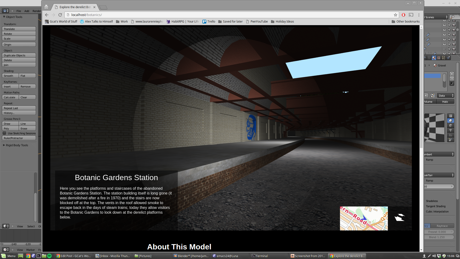 The finished WebGL viewer