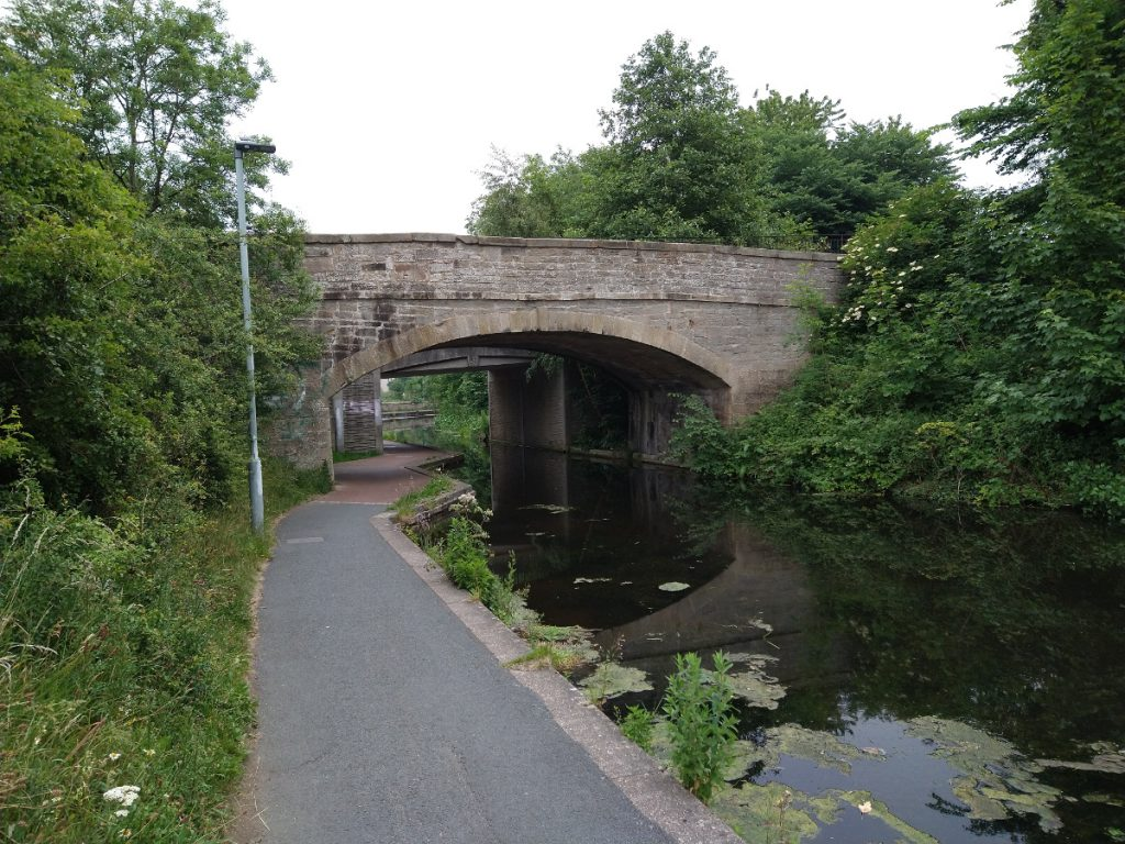 Bridge rescued from inside embankment